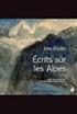 Écrits sur les Alpes